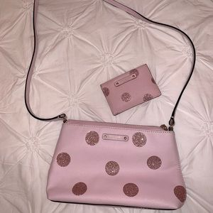 Kate Spade pink crossbody & card holder